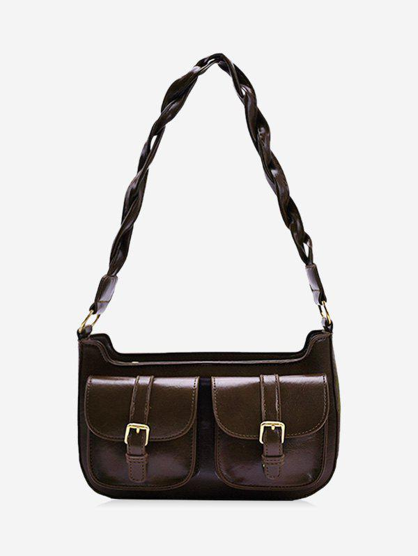 Discount Retro Twist Strap Messenger Shoulder Bag