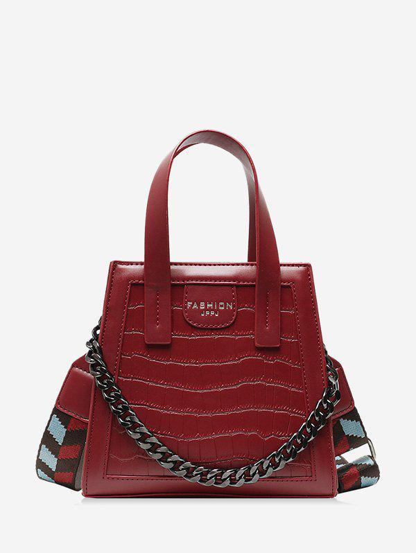 Online Zipper Chain Embossing Crossbody Bag