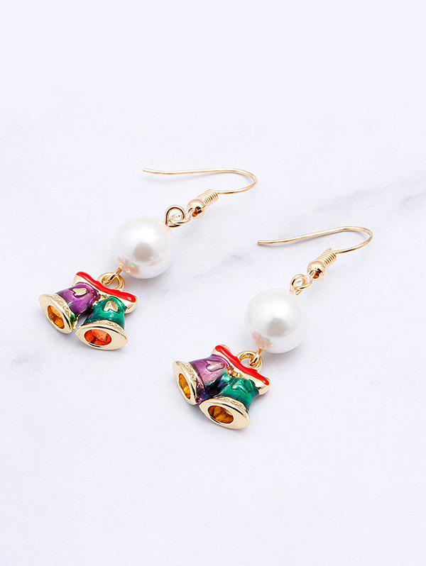 Affordable Faux Pearl Christmas Bell Earrings