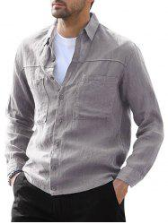 Button Up Double Pockets Shirt -
