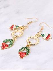 Christmas Tree Garland Glazed Dangle Earrings -