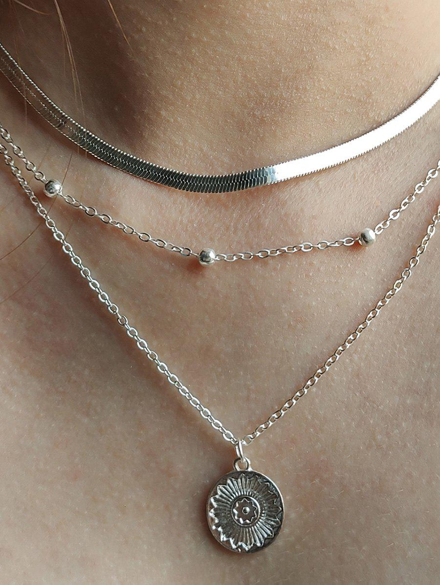 Retro Coin Beads Multilayered Necklace