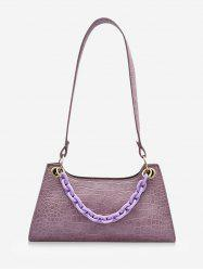 French Style Chain Solid Shoulder Bag -