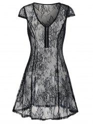 See Thru Lingerie Lace Dress -