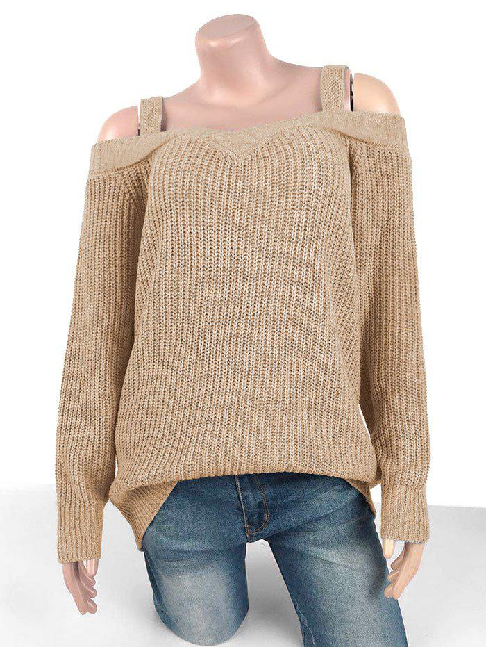 Buy Plus Size Chunky Cold Shoulder Sweater