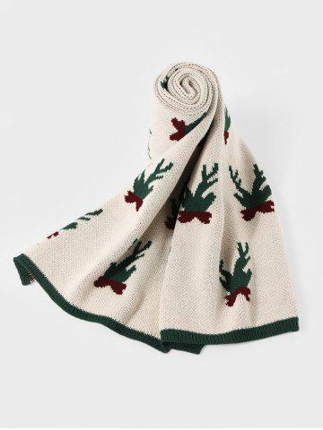 Christmas Pattern Colorblock Knitted Long Scarf