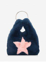 Star Pattern Faux Fur Chain Crossbody Bag -