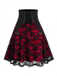 Lace-up Halloween Punk Lace Skirt -