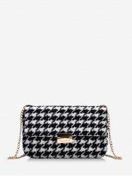 Checked Pattern Messenger Bag -