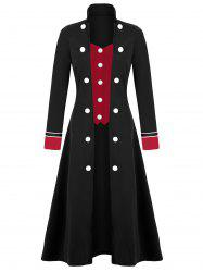Plus Size Long Double Breasted Coat -