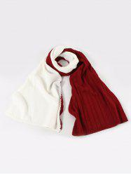 Contrast Knitted Long Scarf -