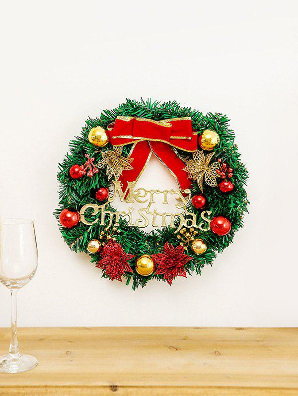 Online Christmas Bowknot Garland Tree Door Decor
