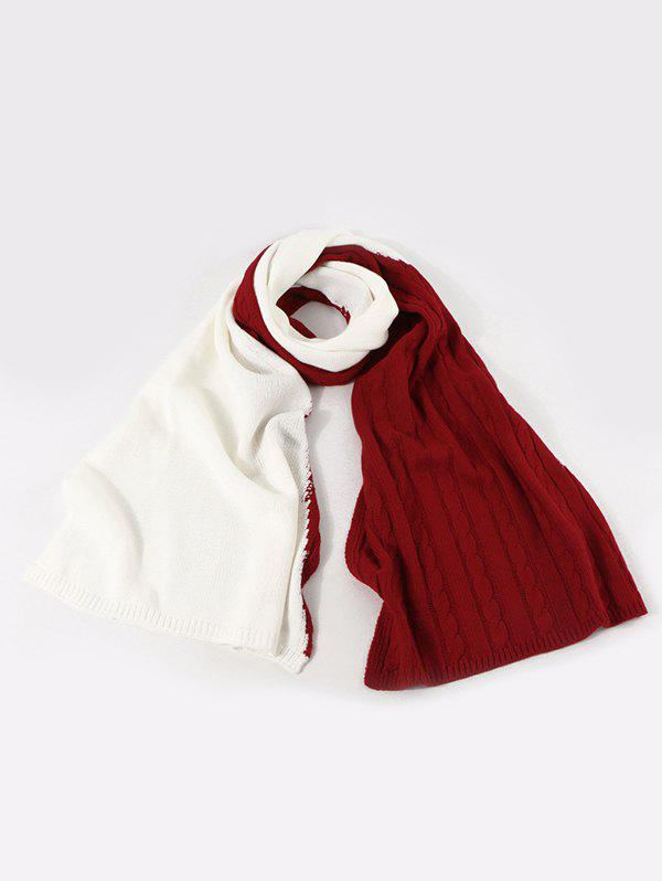 Outfit Contrast Knitted Long Scarf