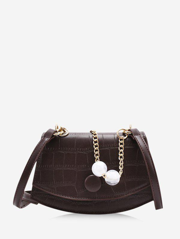 Outfit Retro Cover Chain Beads Crossbody Bag