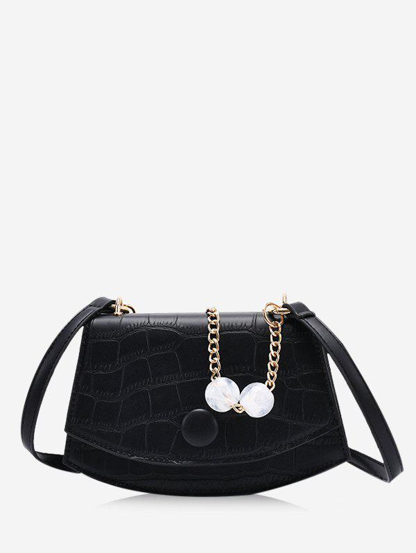 Affordable Retro Cover Chain Beads Crossbody Bag