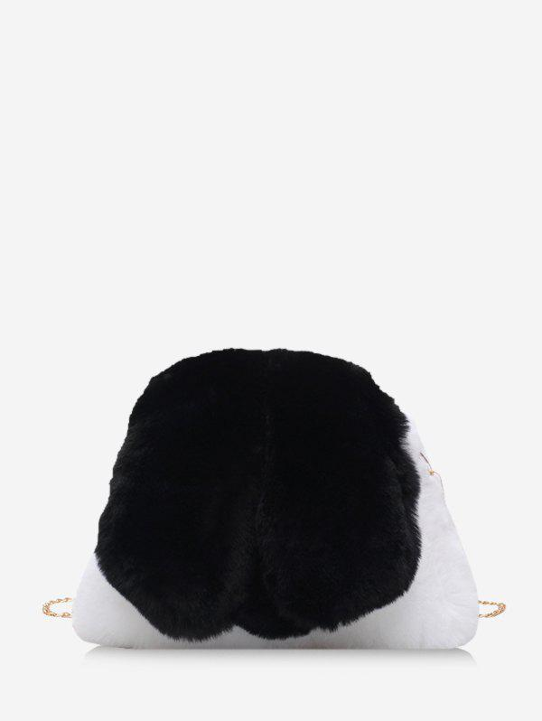 Fancy Faux Fur Rabbit Shape Chain Crossbody Bag