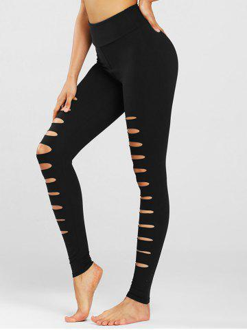 Laddering Cutout High Waisted Sports Leggings