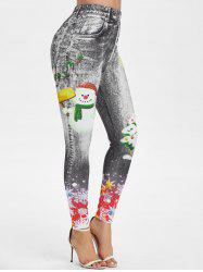 Christmas Printed Skinny Jeggings -