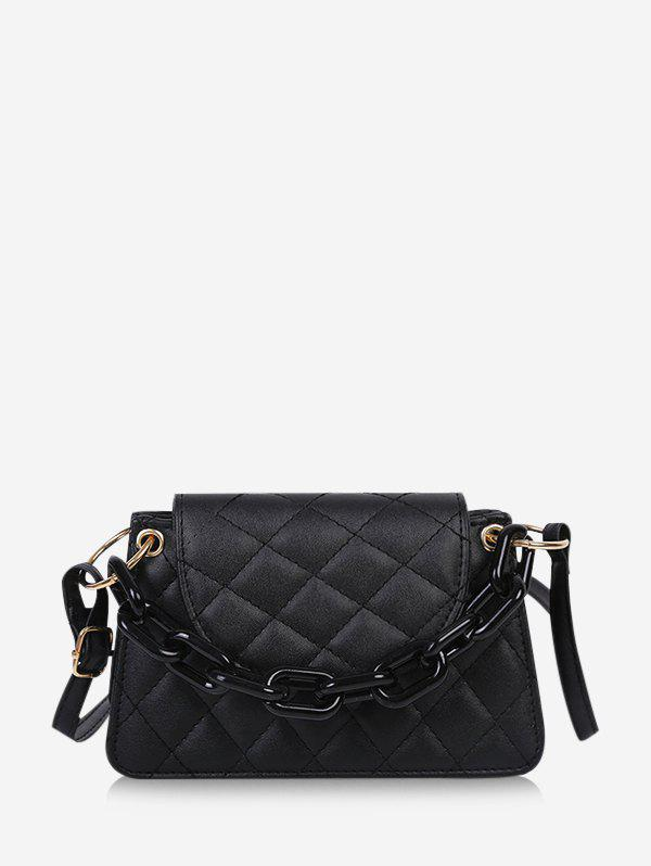 Online Rhombus Pattern Quilted Crossbody Bag
