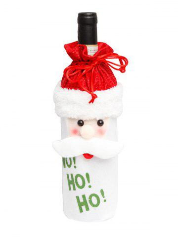 Christmas Cartoon Decorations Fuzzy Wine Bottle Cover - MULTI-A