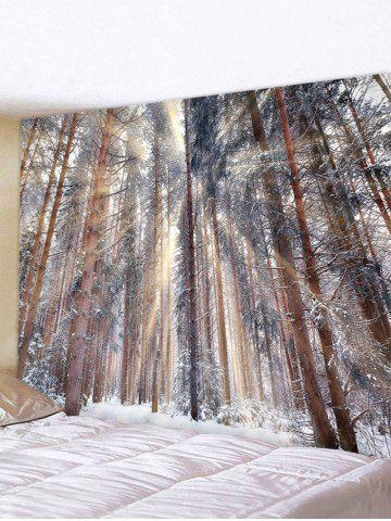Snowy Forest Printed Waterproof Wall Tapestry