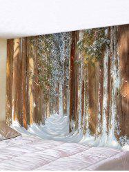 Forest Snow Print Multifunctional Decorative Wall Tapestry -