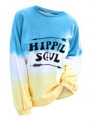 Plus Size Graphic Ombre Color T Shirt -