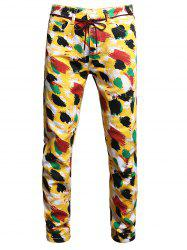 Painting Print Long Jeans -