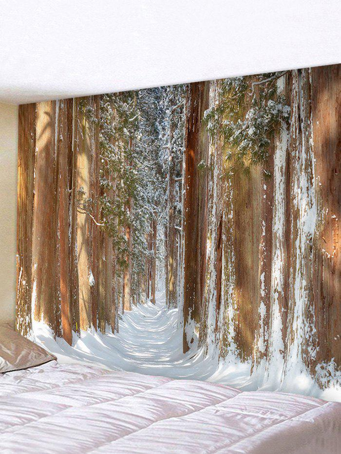 Discount Forest Snow Print Multifunctional Decorative Wall Tapestry