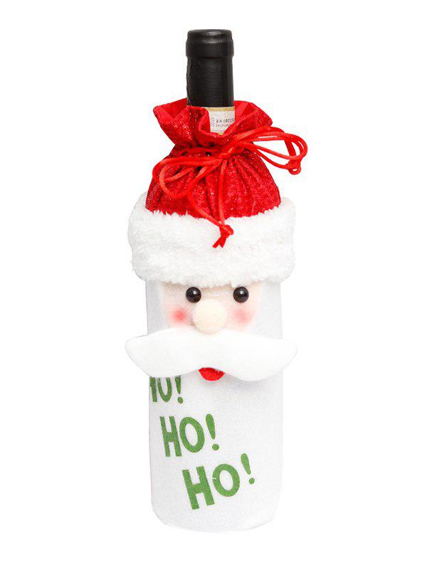 Sale Christmas Cartoon Decorations Fuzzy Wine Bottle Cover