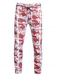 Britain Flag Allover Pattern Denim Jeans -