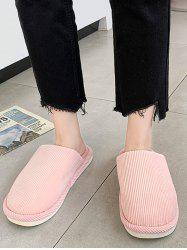 Solid Color Fuzzy Comfortable Slippers -