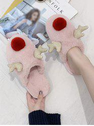 Christmas Cute Elk Shape Fuzzy Home Slippers -