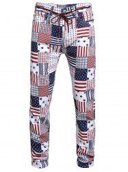 American Flag Pattern Long Jeans -