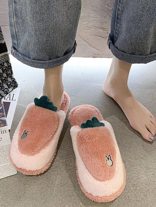 Outfits Cartoon Carrot Shape Fuzzy Home Slippers