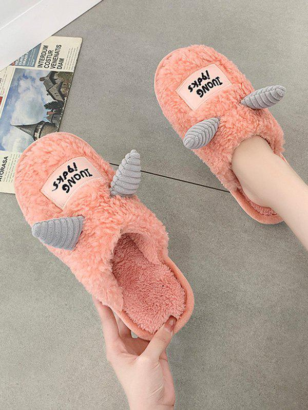 Outfit Cartoon Unicorns Shape Fluffy Slippers