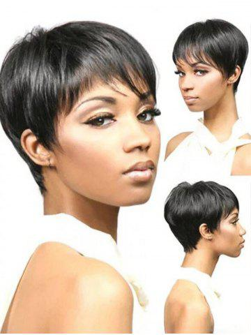 Short Side Bang Pixie Straight Synthetic Wig