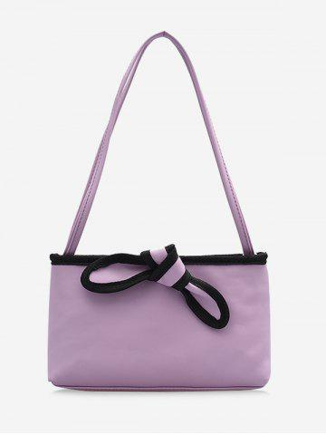 Bowknot Design PU Leather Tote Bag