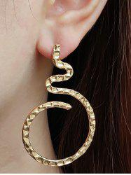 Hammered Curved Earrings -