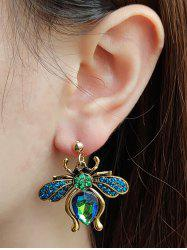 Faux Gem Bee Shape Drop Earrings -