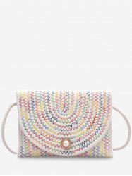 Woven Design Envelope Shape Crossbody Bag -