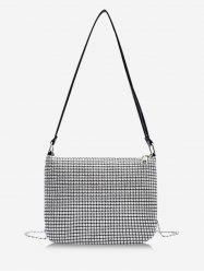 Rhinestone Design Chain Evening Bag -