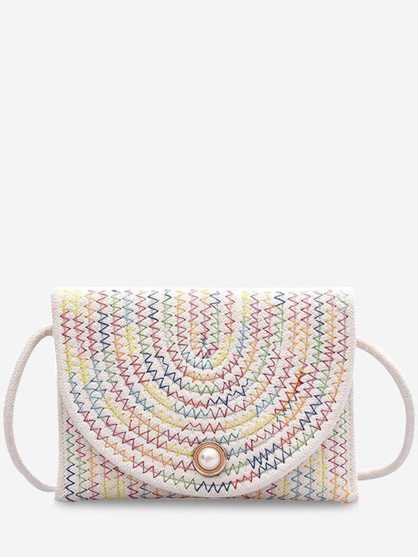 Shops Woven Design Envelope Shape Crossbody Bag