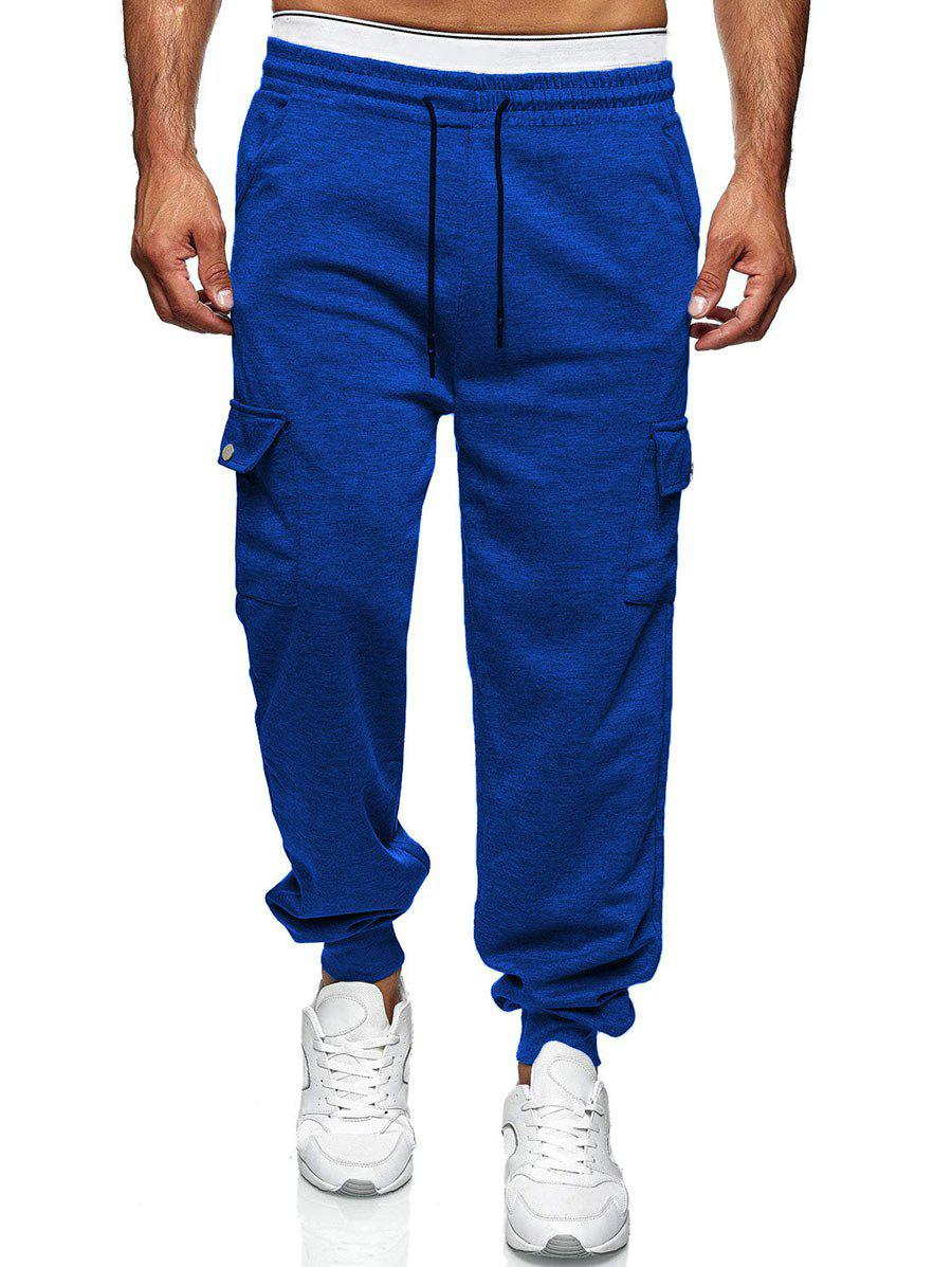 Discount Drawstring Side Pockets Tapered Casual Pants