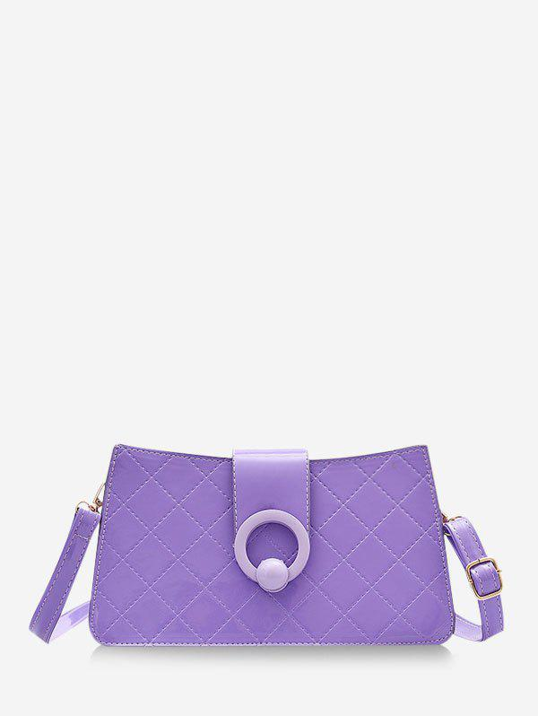 Latest Grid Stitching PU Leather Shoulder Bag