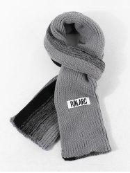 Colorblock Winter Long Knitted Scarf -