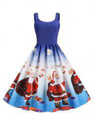 Christmas Santa Claus Snowflake Tank Dress -