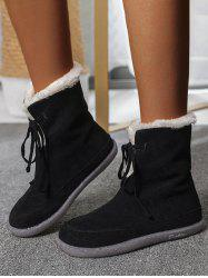 Outdoor Lace Up Fluffy Snow Boots -