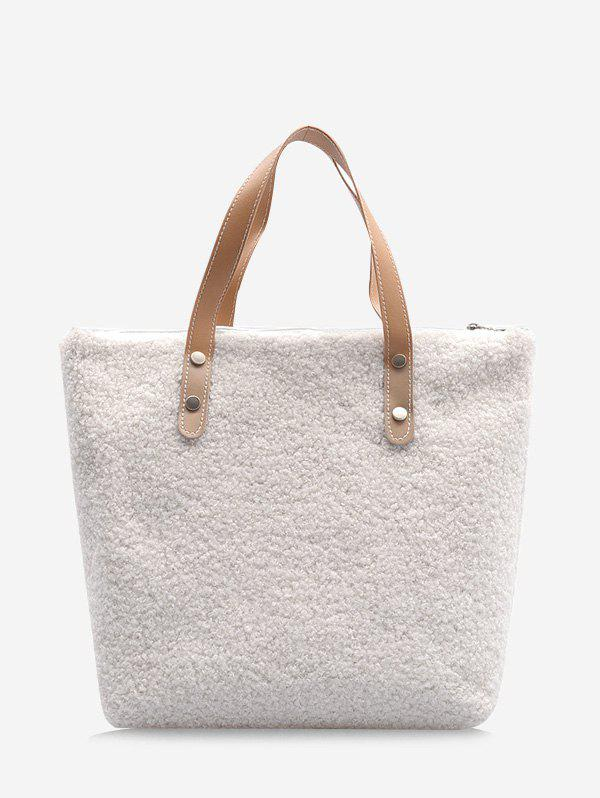Affordable Casual Teddy Faux Fur Tote Bag