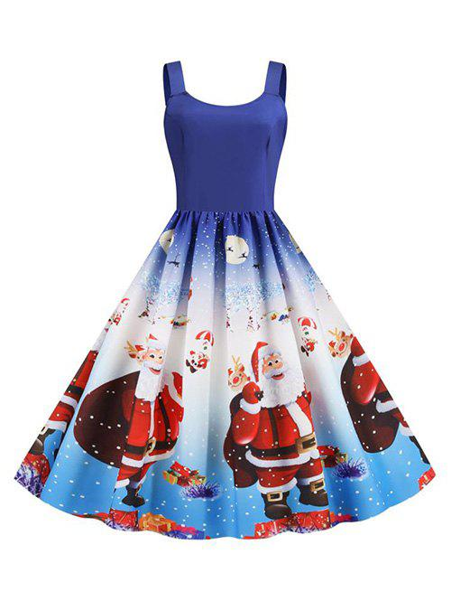 Unique Christmas Santa Claus Snowflake Tank Dress